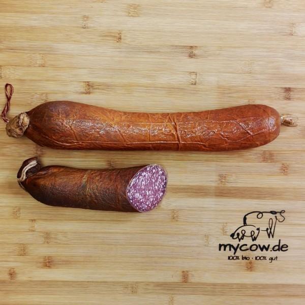 Bio-Rinder-Schlackwurst